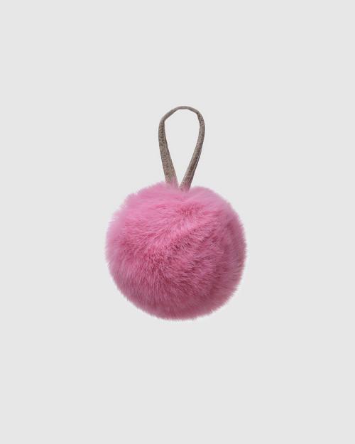 """Faux Fur Pompons """"Pink"""""""