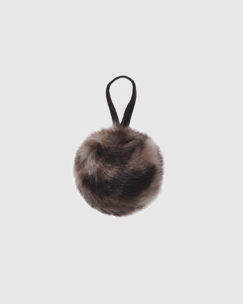 "Faux Fur Pompons ""Wild Cat with logo"""
