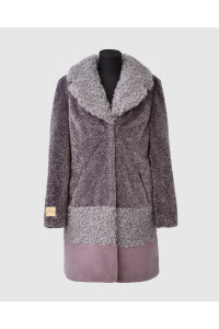"Faux Fur Coat  ""Colorblock"""