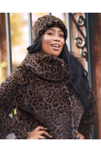 "Faux Fur Coat ""Gray Panther"""