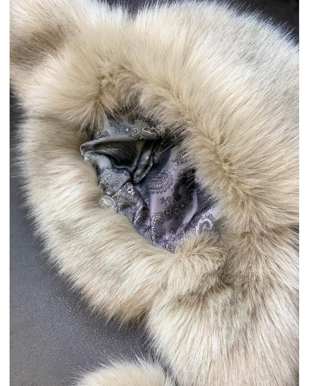 """Faux Fur Ushanka Hat """"White Fox"""""""
