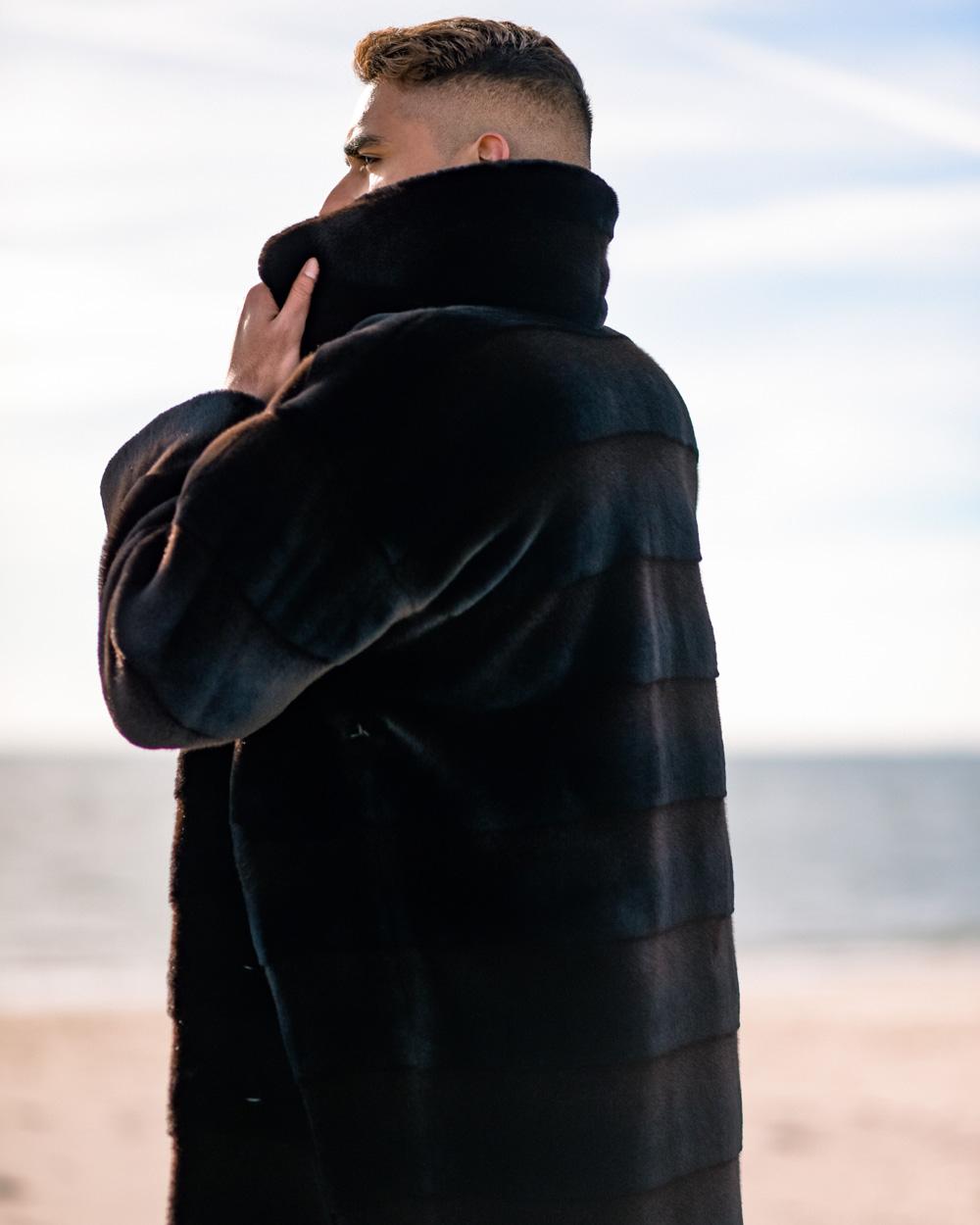 """Faux Fur Coat """"Man's City Style"""""""